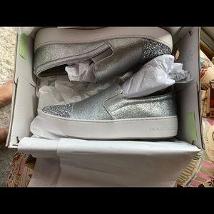 Michael Kors silver slides size 8.5